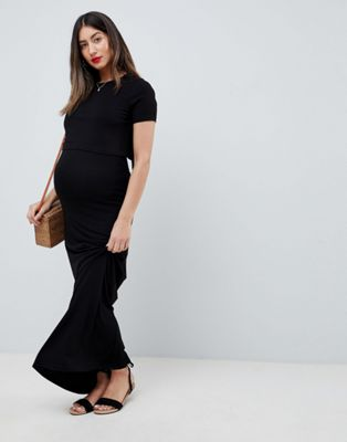 ASOS DESIGN Maternity Nursing double layer maxi dress
