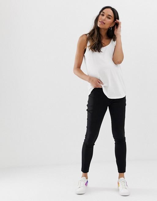 Design Maternity - Pantaloni Skinny A Vita Alta