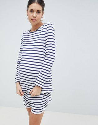 ASOS DESIGN Maternity Popper Breton Nursing Set