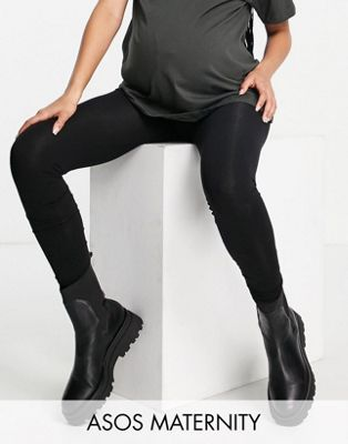 ASOS DESIGN Maternity premium supersoft leggings in cotton modal