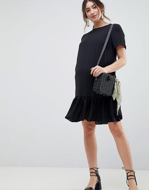 c6c1d0ed9eb39 ASOS DESIGN Maternity ruffle hem mini t-shirt dress   ASOS