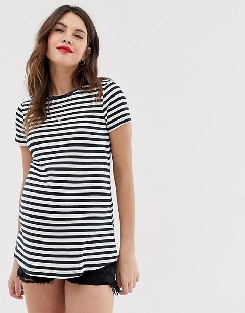 ASOS DESIGN Maternity stripe crew neck t-shirt