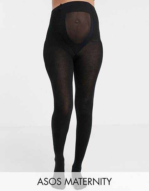 ASOS DESIGN Maternity supersoft tights with supportive panel