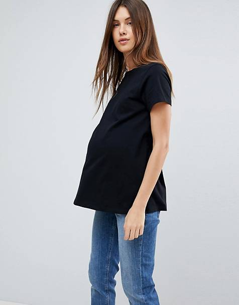ASOS DESIGN Maternity ultimate crew neck t-shirt in black 5f6a56949