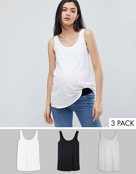 ASOS DESIGN Maternity ultimate tank 3 pack SAVE
