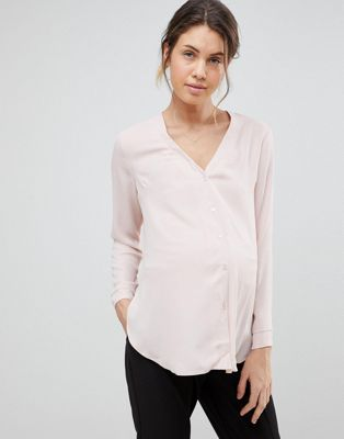 ASOS DESIGN Maternity v neck blouse