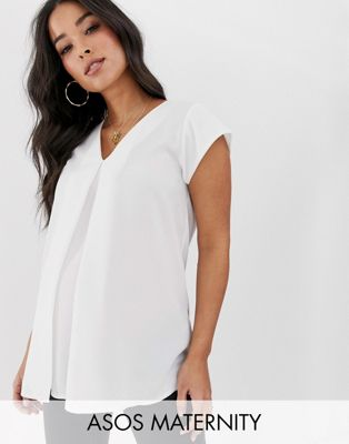 ASOS DESIGN Maternity v- neck origami blouse