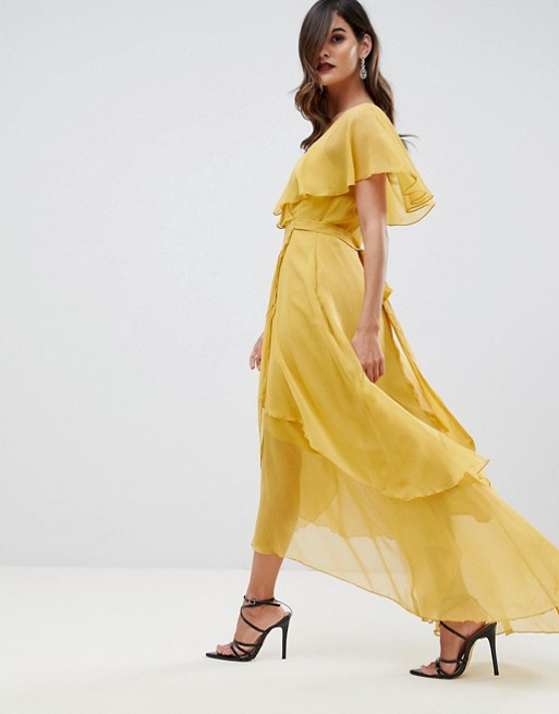 ac8fb5eae33 asos-design-maxi-dress-with-cape-back-and-