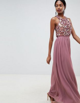 ASOS DESIGN maxi dress with cluster embellished bodice