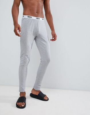 Image 1 of ASOS DESIGN megging in grey marl with branded waistband
