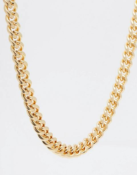 ASOS DESIGN midweight chain in gold tone