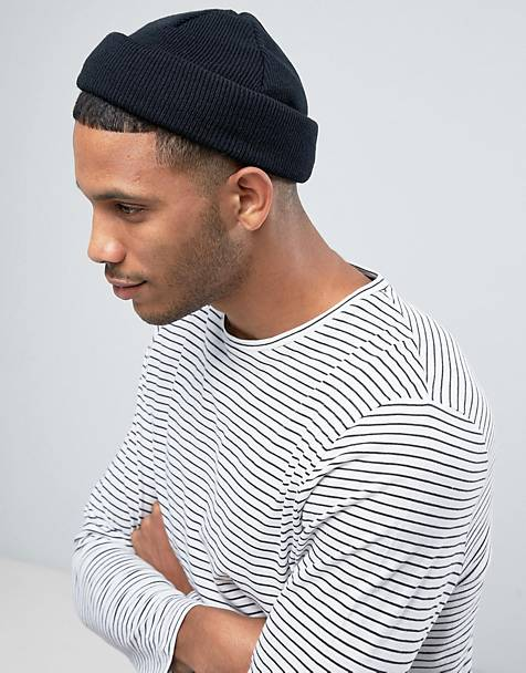 ASOS DESIGN mini fisherman beanie in black 5f30d2c2eec