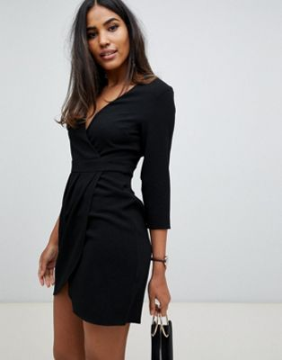 ASOS DESIGN - Mini-jurk met overslag