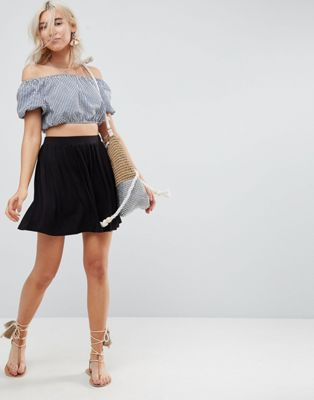 ASOS DESIGN mini skater skirt