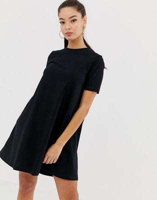 Image 1 of ASOS DESIGN mini t-shirt dress with smock back