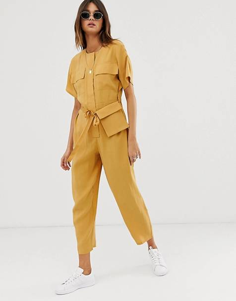 ASOS DESIGN minimal boiler jumpsuit with detachable fanny pack
