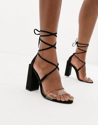 Afbeelding 1 van ASOS DESIGN - Minimalistische sandalen met blokhak