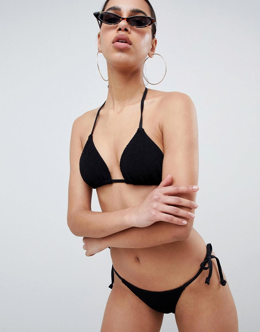 Asos Design Mix And Match Crinkle Triangle Bikini Top by Asos Collection