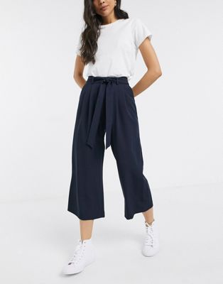 Image 1 of ASOS DESIGN mix & match culotte with tie waist