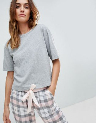 ASOS DESIGN Mix & Match Grey Marl Pyjama Tee