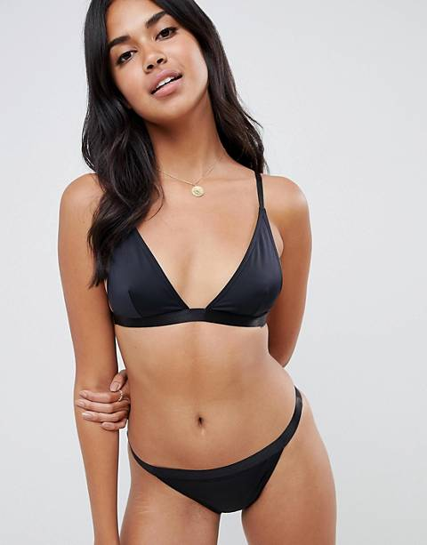 ASOS DESIGN - Mix & Match - Top bikini a triangolo in tessuto riciclato con elastico