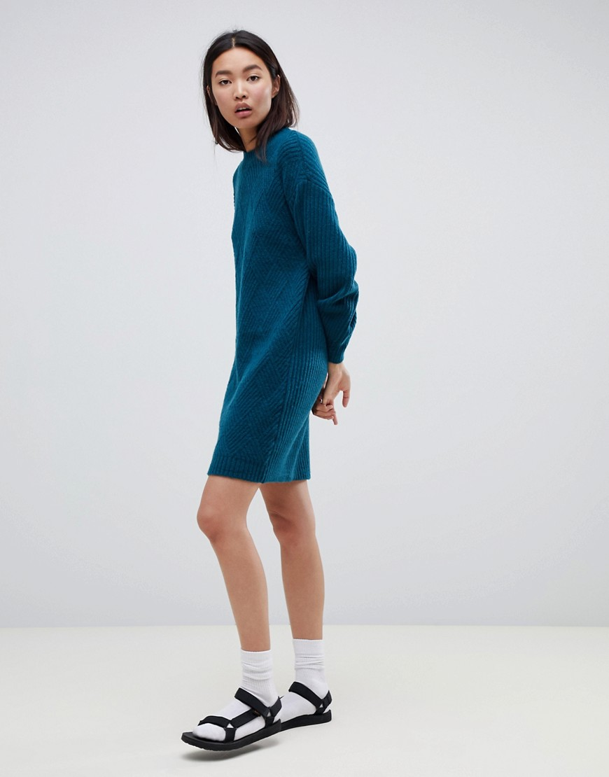 Asos Design Moving Rib Sweater Dress by Asos Design