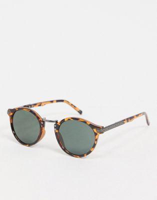 ASOS DESIGN - Occhiali da sole con lenti tonde in stile vintage