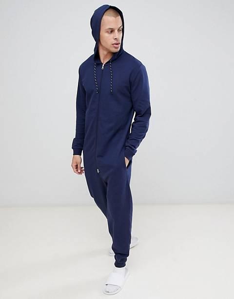 ASOS DESIGN onesie in navy