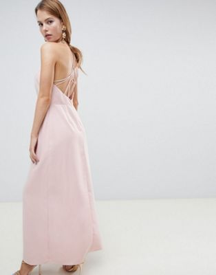 ASOS DESIGN open back maxi dress