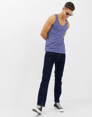 Image 1 of ASOS DESIGN organic tank in blue