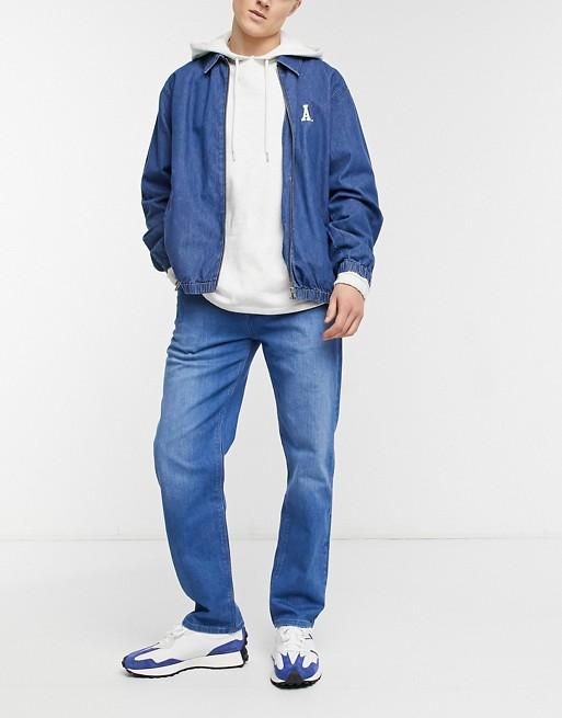 ASOS DESIGN - Original Fit-jeans i 70'er-blå