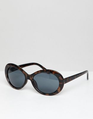 ASOS DESIGN Oval Sunglasses In Tort