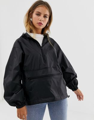 ASOS DESIGN over the head rainmac