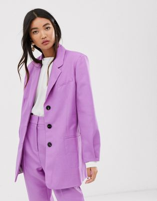 ASOS DESIGN oversized dad blazer in lilac