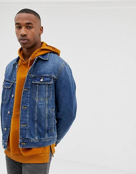 ASOS DESIGN oversized denim jacket in mid wash