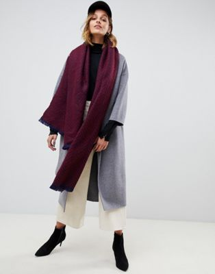 ASOS DESIGN oversized herringbone long scarf