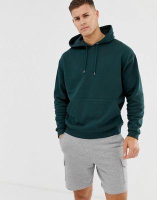 ASOS DESIGN oversized hoodie in dark green
