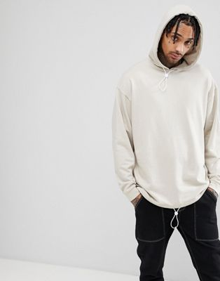 ASOS DESIGN Oversized Hoodie With Toggle Hem