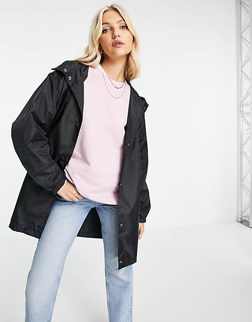 ASOS DESIGN oversized rain jacket in black