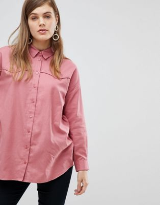 ASOS DESIGN Oversized Shirt in Casual Washed Twill