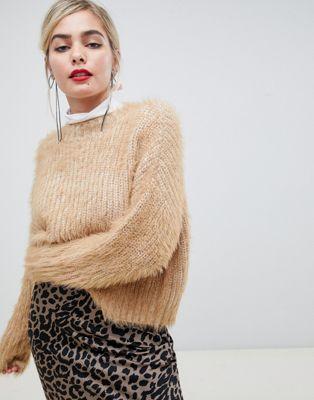 ASOS DESIGN oversized sweater in fluffy yarn