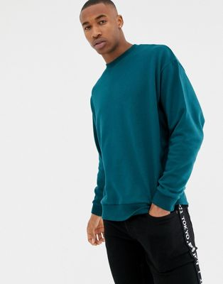 ASOS DESIGN - Oversized sweatshirt in groen