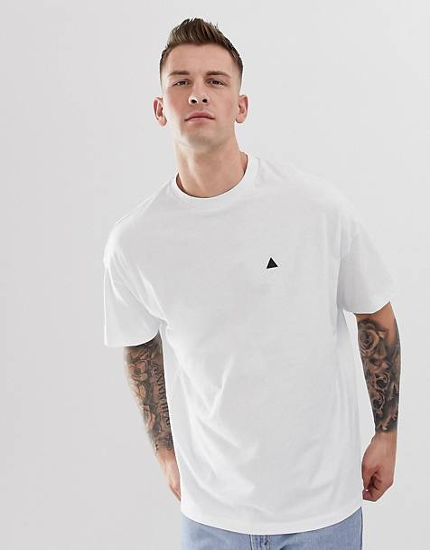 ASOS DESIGN oversized t-shirt with crew neck and logo in white