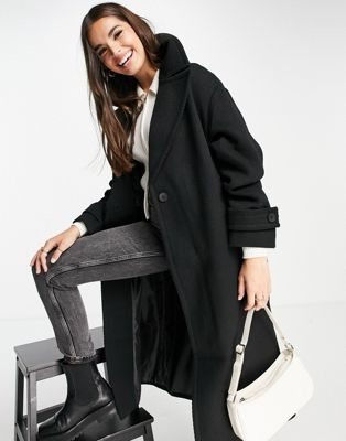 ASOS DESIGN Tall trench coat in black - ASOS Price Checker