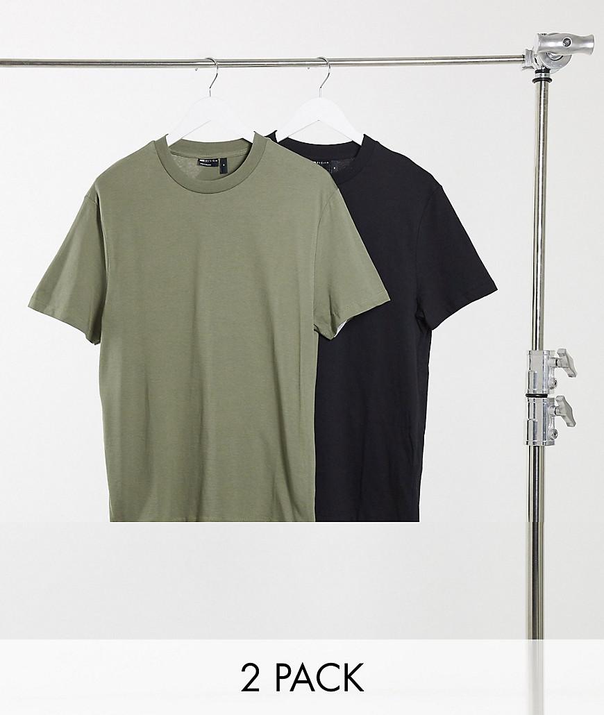ASOS DESIGN - Pakke med 2 økologiske t-shirts-Multifarvet