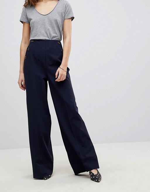 ASOS DESIGN - Pantalon large avec poche boutonnées