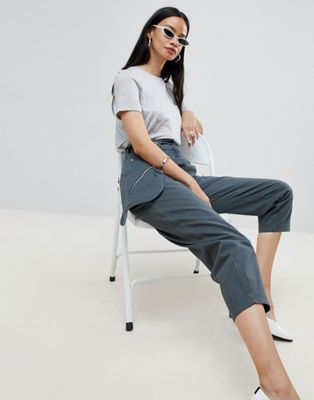 ASOS DESIGN peg trousers with bum bag
