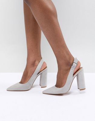 ASOS DESIGN - Penley - Scarpe con tacco alto e cinturino posteriore