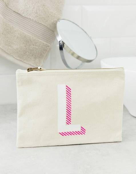 ASOS DESIGN personalized L pouch