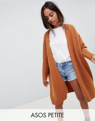 ASOS DESIGN Petite - Eco - Cardigan oversize soffice
